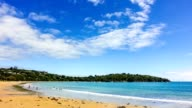 Timelapse of the beautiful paradise beach on the coast of sea bay of Andaman sea at the New Zealand video