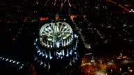 Timelapse of the Boston, Massachusetts city center at night video