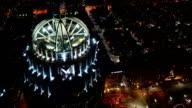 Timelapse of the Boston, Massachusetts Skyline at night video