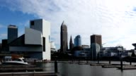 Timelapse of the city center of Cleveland, Ohio video