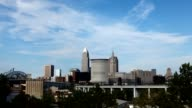 Timelapse of the city center of Cleveland video