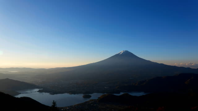 timelapse of the daybreak with Mt. Fuji video