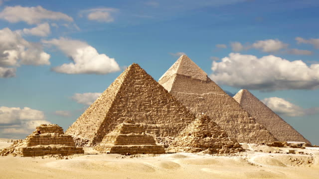 Timelapse Of The Great Pyramids In Giza Valley, Cairo, Egypt video