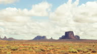 Timelapse of the Monument Valley tribal national park video