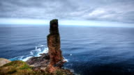 Timelapse of the Old Man of Hoy, Orkney, Scotland video
