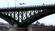 Timelapse of the Peace Bridge with traffic video