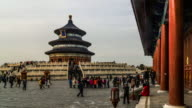 Timelapse of the people wander in the Temple of Heaven at weekend, Beijing, China. video