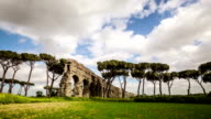 Timelapse of the Roman Aqueduct at Parco degli Acquedotti video