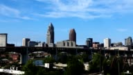 Timelapse of the skyline of Cleveland, Ohio video