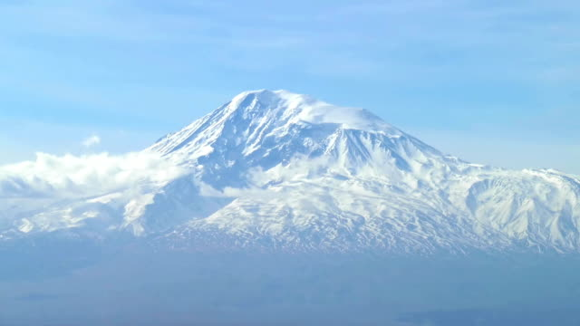 Timelapse of the snowcapped legendary Ararat mountain, video