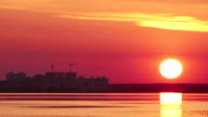 A Time-Lapse of The Sun Disappearing Behind The Horizon video