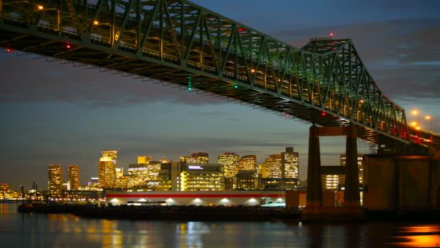 Timelapse of the Tobin Bridge and Boston skyline video