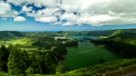 Timelapse of the twin-lake of Sete Cidades in the Azores, Portugal video