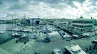 Timelapse of the Vigo Harbor, Spain video