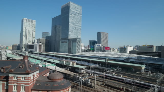 4K Time-lapse of Tokyo staion, Japan video