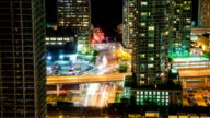 HD: Timelapse of Toronto financial district by night video