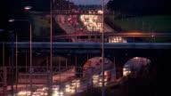 Timelapse of traffic at dusk video