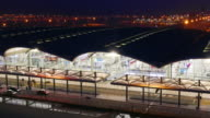 Timelapse of Traffic at International Airport at night video