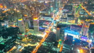 Timelapse of Traffic with urban Cityscape in Bangkok Thailand video