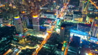 Timelapse of Traffic with urban Cityscape in Bangkok Thailand, Zoom out video