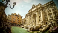 Timelapse of Trevi Fountain in Rome video