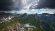 timelapse of upcoming thunderstorm in the alps, tirol, austria video