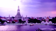 Timelapse of Wat Arun, Bangkok, Thailand video