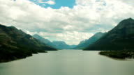 Timelapse of Waterton National Park Lake and Mountains with Boats video