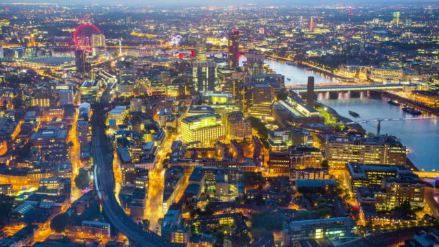 Timelapse of Westminster city in night video
