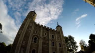 Timelapse of White Tower at the Tower of London video
