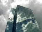 Timelapse office tower. Sun and clouds. video