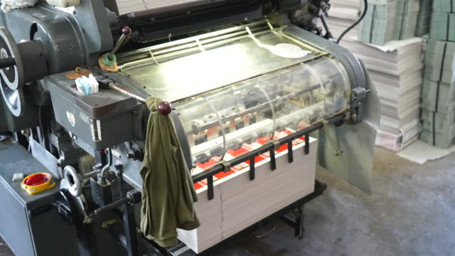 timelapse - old printing machine video