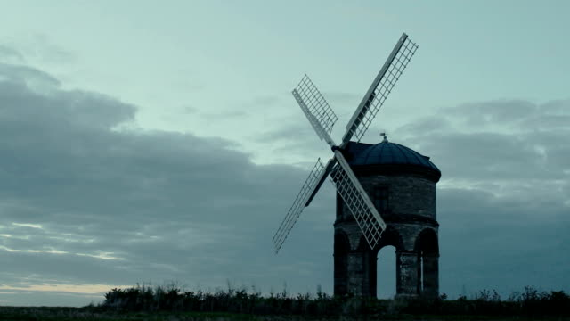 Timelapse Old stone windmill video