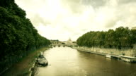 Timelapse on Tiber River and Saint Peter Basilica, Rome video