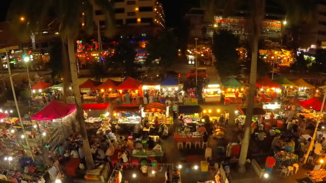 Timelapse opening local market video