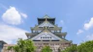 4K Timelapse : Osaka Castle in Osaka, Japan video