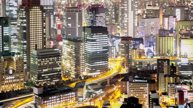 HD Time-lapse: Osaka Cityscape in action video