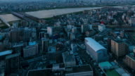 HD Time-lapse: Osaka Cityscape in sunset video