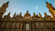 HD: time-lapse: Our Lady of the Pillar Basilica Zaragoza, Spain video