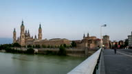 HD Timelapse: Our Lady of the Pillar Basilica Zaragoza, Spain video