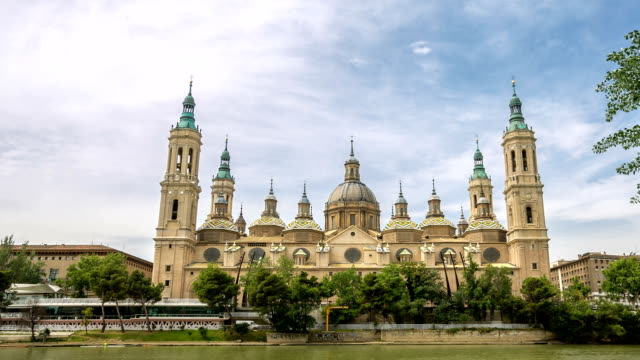 HD: Timelapse: Our Lady of the Pillar Basilica Zaragoza, Spain video