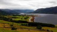 Timelapse overlooking Ullapool in Scotland video