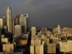 Timelapse pan across Los Angeles, Day/Night video