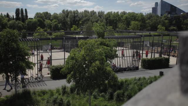 Time-lapse Panorama of a Frankfurt Park Activity video