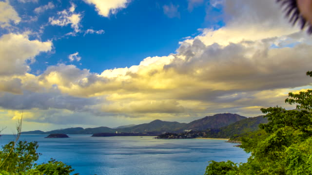 4K TimeLapse. Panoramic at sea and tropical Phuket island, Thailand. January, 2016. video