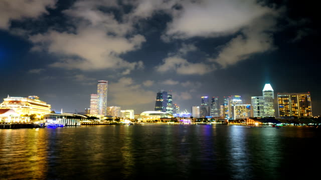 Timelapse panoramic view in Singapore . video