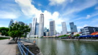 Timelapse panoramic view in Singapore video