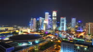 4K :Timelapse panoramic view in Singapore . video