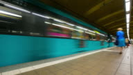 4K Time-lapse: Passenger Commuter Crowded at Metro Subway station Paris video
