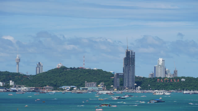 4K Time-lapse : Pattaya city in Thailand video
